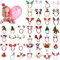 Weihnachten Stirnband Santa Party Dekor Doppel Haarband Spange Kopf Reifen Menge