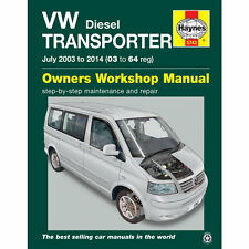 VW Transporter Haynes Manual  2003-14 T5 1.9 2.0 2.5 Diesel Workshop Manual
