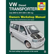 VW Transporter T5 1.9 2.0 2.5 Diesel 2003-14 Haynes Workshop Manual