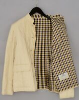 Women Aquascutum Jacket Casual Beige Cotton Breathable L UK14 VAS516