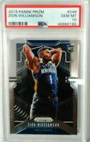 2019 Panini Prizm Zion Williamson PSA 10 Gem Mint Rookie RC #248 Pelicans rc
