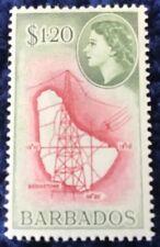 Barbados Elizabeth II $1.20 Carmine & Green Definitive Mounted Mint SG300