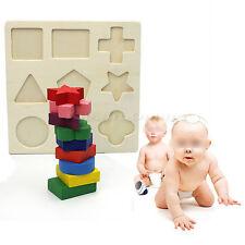 Children Baby Kids Educational Wooden Building Blocks Bricks Toy Birthday Gift