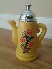 Vintage Avon Koffee Klatch Decorative Coffee Pot Collectible 1970's yellow