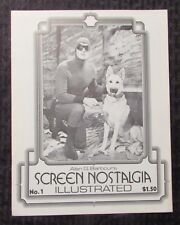 1983 Alan G. Barbour SCREEN NOSTALGIA ILLUSTRATED Fanzine #1 FVF Phantom Serial