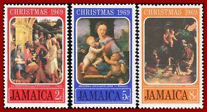 Jamaica 1969  Christmas, paintings by Raphael ** MNH, Mi 294-296, Sc 302-304