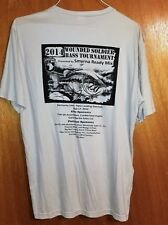 2014 Wounded Soldier Benefit Bass Tournament Sport Tek Fishing T-shirt XL