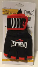 Everlast Boxing Core Hand Wraps, Black and Red Size S/M NEW