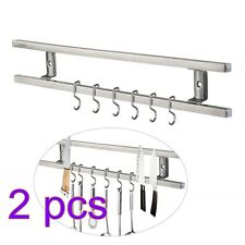 2pcs Wall-mounted Magnetic Knife Holder Double Bar Knife Rack for Kitchen Sets