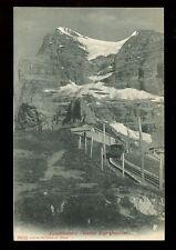 Switzerland JUNGFRAUBAHN Station Eigergletscher Railway PPC + 1908 cachet
