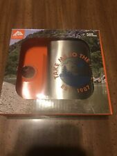 New listing Ozark Trail 7.5oz Stainless Steel Flask with Attached Cap and Easy-pour Funnel