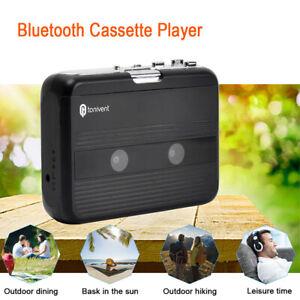 Black Portable Mini Bluetooth Cassette Player Receivers FM Radio w/ Auto-revers