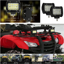 "2x 4"" 120W Quad Row LED Truck Jeep Lights Bar Pod Work Flood Spot Fog Lamps IP68"