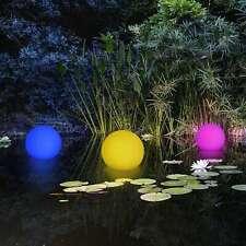 3er LED AD ENERGIA SOLARE sfera schwimmkugel STAGNO LAMPADA SFERA DA GIARDINO LAMPADA ILLUMINAZIONE so16-2