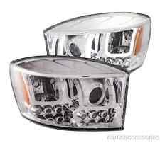 Chrome Clear U-Bar Halo Projector Headlights fits Ram 1500/2500/3500 Anzo 111315