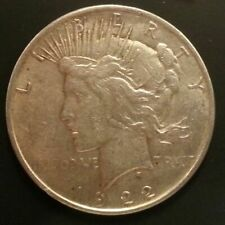 1922 D Circulated Peace Silver Dollar Coin
