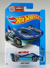 Hot Wheels 2015 #37 Super Stinger BLUE,1ST COLOR,PR5,METAL BASE,INTL
