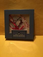 """Wedgwood""""Our First Christmas Together""""1995 Ornament White Jasper Horse Carriage"""