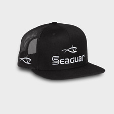 Seaguar Logo Richardson 511 Black Flat Bill Cap Fishing Line Logo Merchandise