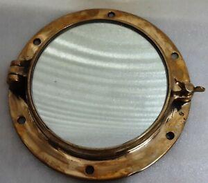 New Vintage Style Marine Ship Brass Porthole Window with Mirror Glass
