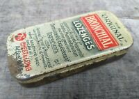 """c1930's The """"Original"""" Bronchial Lozenges Small Tin with Hinged Lid"""