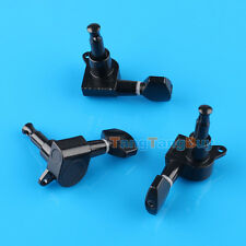 Black Tuners Machine Head 6R Right Inline Guitar String Tuning Pegs