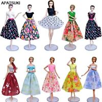 """Fashion Doll Clothes For 11.5"""" Doll Dress Outfits Gown Top Floral Midi Skirt 1/6"""