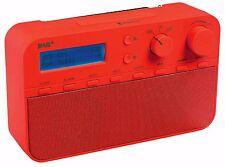 Konig DAB+ FM Portable Radio / Alarm Clock - RED