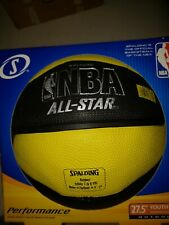 New In Box Spalding Nba All-Star Youth Size Basketball Black & Yellow