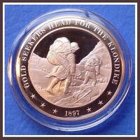 1897 Alaskan KLONDIKE GOLD RUSH - Franklin Mint Solid Bronze Medal  Uncirculated