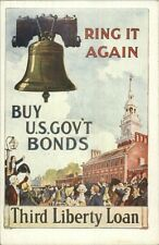 Ring It Again THIRD LIBERTY LOAN Buy Go'vt Bonds French Issued Postcard
