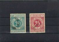 EARLY DENMARK  RAILWAY PARCELS  USED STAMPS  REF R748