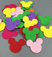 100pcs DIY Mixed Colors Die Cut Felt  Mickey head Cardmaking decoration 35mm