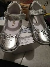 Falcotto Girls Silver Shoes Size 23 Brand New