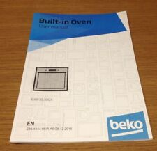 Genuine BEKO BXIF35300X Built In Oven Instruction Manual User Guide