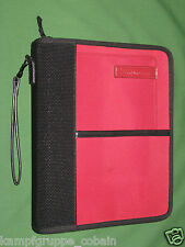 """CLASSIC ~ 1.25"""" ~ RED NYLON Franklin Covey Planner BINDER Smart Phone SPORT 6002"""