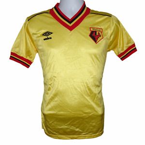 1982-1985 Watford Home Football Shirt Umbro Small (Excellent Condition)
