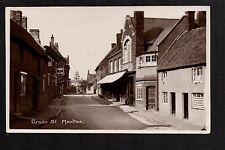 Moulton - Cross Street - real photographic postcard