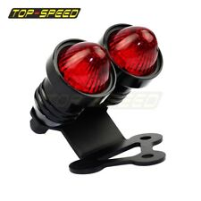 Retro 12V LED Twin Dual Tail Light Stop Bracket For Cafe Racer Street Fighter