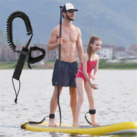 Surfboard Leash 10' Coiled NEW!! Stand UP Paddle Sporty Board Leash SUP - Black