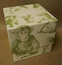 Steiff coffret cube EAN 924262 12.5 cm Blanc Vert TEDDY BEAR Animal Nouveau