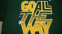 "NCAA BU Baylor Bears ""Go All the Way"" T-Shirt Adidas Large/L NWT!"