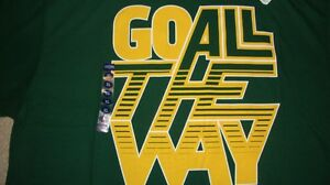 NCAA BU Baylor Bears Green T-Shirt Adidas Large/L NWT!