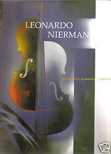 RARE Leonardo Nierman The Sound of Color Signed ART Bk