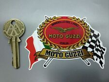 MOTO GUZZI Flags Scroll helmet or motorcycle sticker