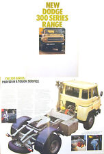 Dodge 300 Series Trucks 1978 Original UK Sales Brochure No. 1039/1/78