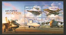 AUSTRALIA 2011 AIR FORCE AVIATION SOUVENIR SHEET OF 4 STAMPS IN FINE USED