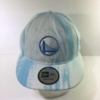 NBA Golden State Warriors New Era Flat Brim Snapback Cap Hat OSFA NWOT