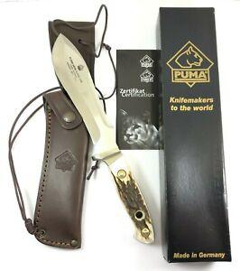 Puma White Hunter 240 Anniversary Fixed Blade Knife STAG Germany + Box 6303-MRX