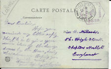GB 1916 WW1 OAS Censored PPC of War Damage from FPO148 to Shepton Mallet